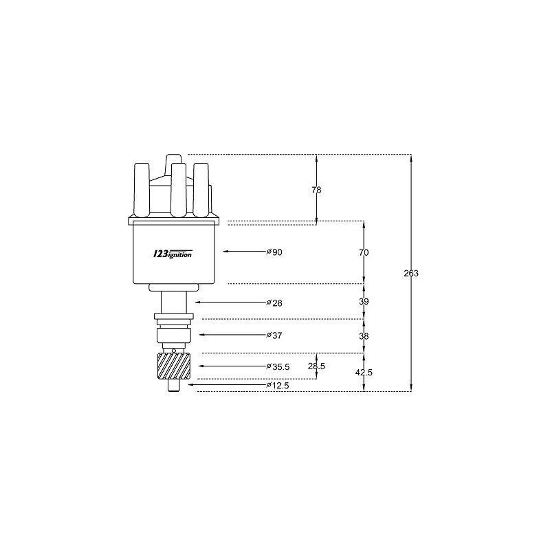 123/SM-6-R-V-IE plus bijbehorende bobine